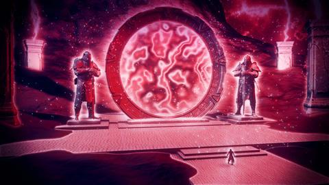 3D Epic Hero & Magic Stargate Scene VJ Loop Background Animation