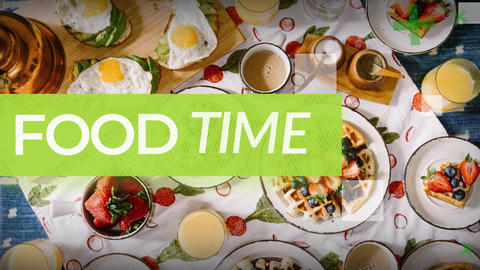 Food Time After Effects Template