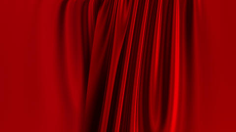 Red Curtains Opening. Green Screen GIF
