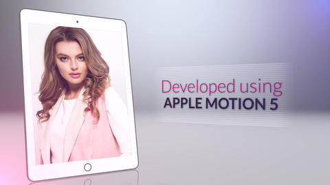 Tablet Presentation Apple Motion Template