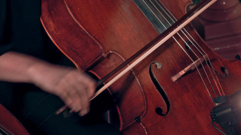 4K Cellist Playing / Violoncellist Playing / Orchestra Musician Footage