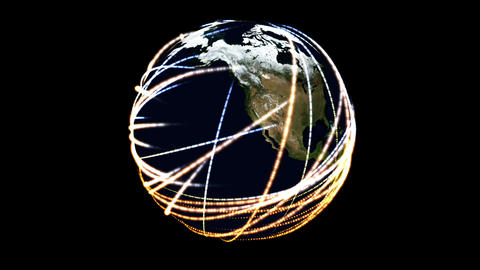 Digital Particle Animation of the Earth GIF