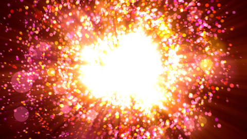 Rotating particle explosion Animation
