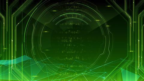 AI digital data network computer technology 3D illustration background 5 07 green CG動画