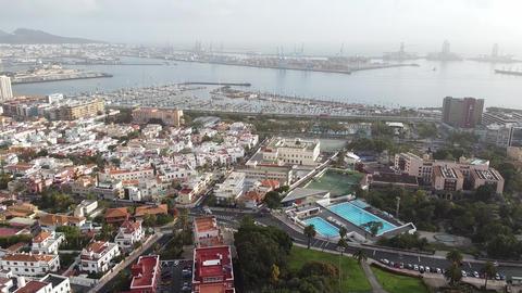 Las Palmas, marine and port veiw Live Action