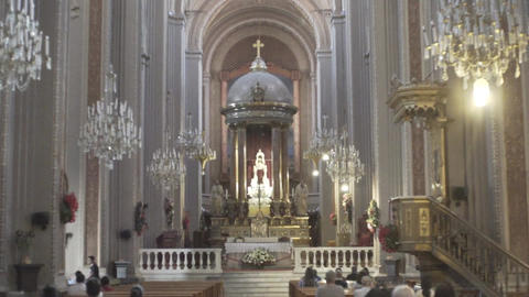 Inside the church Michoacan Live Action