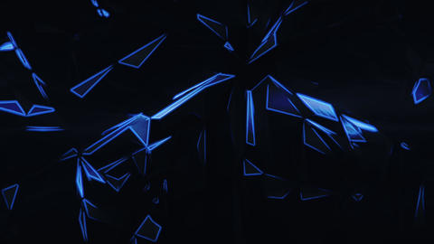 Dark Glowing Polygons Animation
