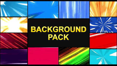 Speedlines Backgrounds After Effects Template