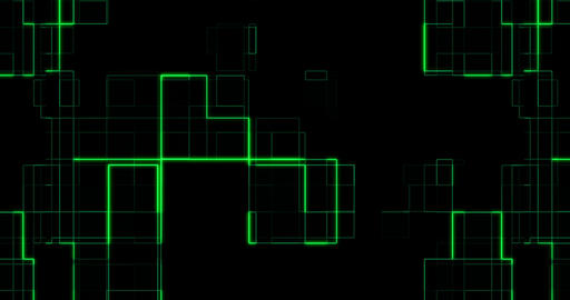 abstract green circuit computer connect background movement, concept of future technology and Live Action