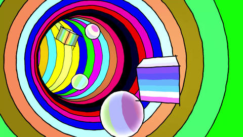 Colorful Tunnel 3D Animation