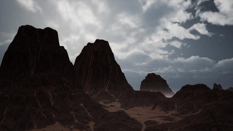 Red Rock Canyon Mountain Landscape Live Action