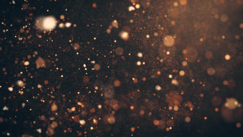 Dust Particles, random motion of particles.On beatiful relaxing Background Live Action