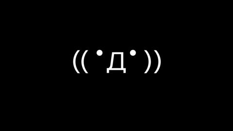 Motion Japanese emoticon - Express Scared01-White Animation