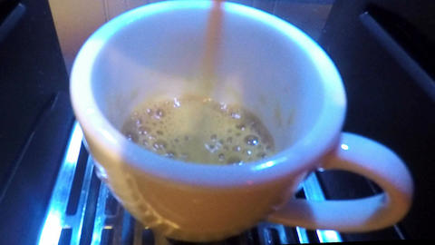 fresh coffee close up Live Action