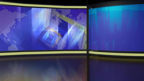 News TV Studio Set 218- Virtual Background Loop Live Action