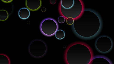 Colorful abstract rings video animation Animation