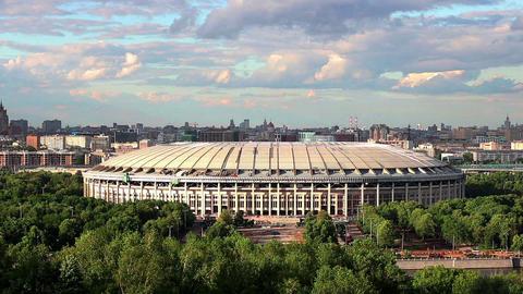 Moscow Luzhniki stadium timelapse Footage