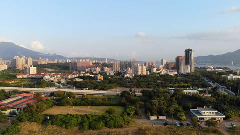 Aerial photography of New Taipei suburb in Taiwan Live影片