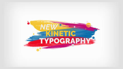 Brush Kinetic Typography After Effects Template