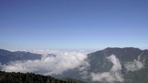 Time-lapse photography of clouds on the mountains of Taiwan Live影片