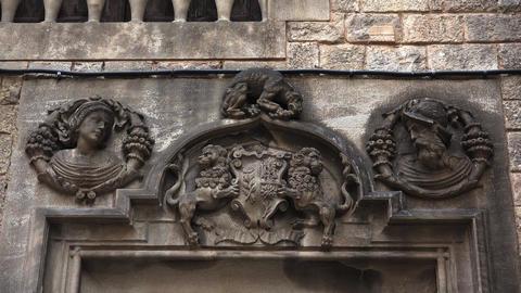 Gothic Quarter of Barcelona. Spain. 4K GIF
