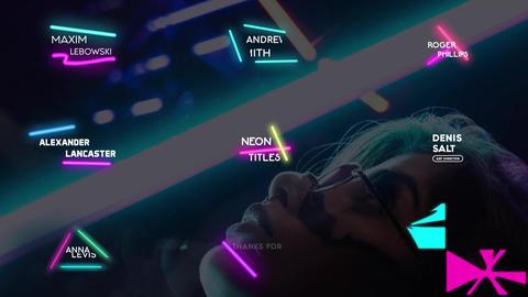 Neon Lights Titles Apple Motionテンプレート