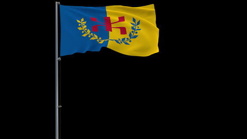Kabylia flag on transparent background, 4k footage with alpha transparency Animation