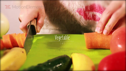 Vegetables Titles After Effects Template