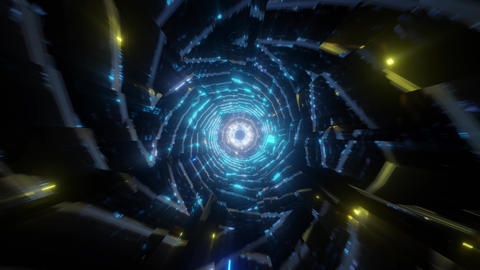futuristic scifi tunnel 3d render animation Animation