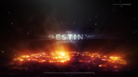 The Destiny Cinematic Title After Effects Template