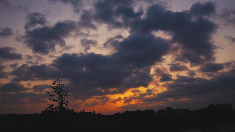 Time-lapse photography of sunset and clouds and sky Live影片