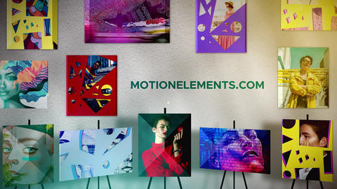 Modern Art Gallery folder After Effects Template