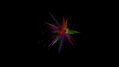 Colorful Particle Burst Animation