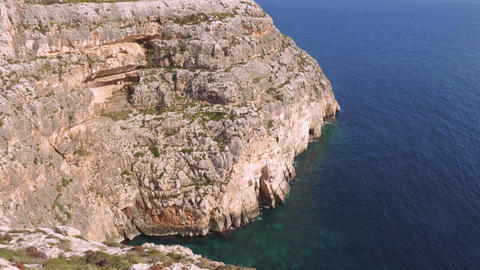 Amazing blue water at Blue Grotto on Malta Live Action