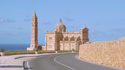 Ta Pinu Church on Gozo is a famous landmark on the island Live Action
