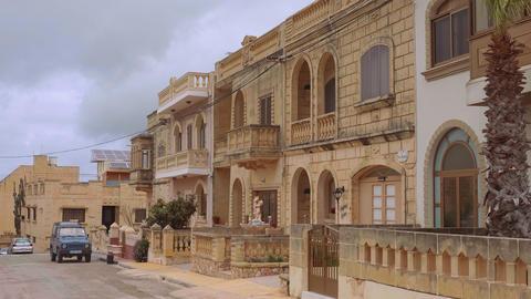 Wonderful mansions on the Island of Gozo Malta - MALTA, MALTA - MARCH 5, 2020 Live Action
