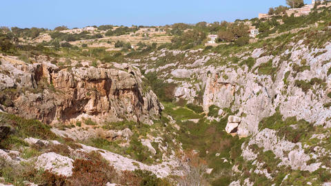 The beautiful nature and hills on Malta Live Action