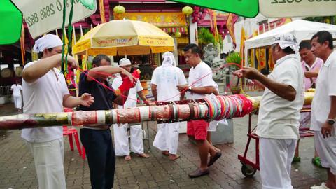 PHUKET, THAILAND October - 1 : phuket vegetarian festival... Stock Video Footage
