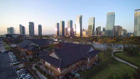 송도센트럴파크 한옥마을3 (Incheon songdo central park) Footage