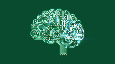 Pulsating electronic brain Animation