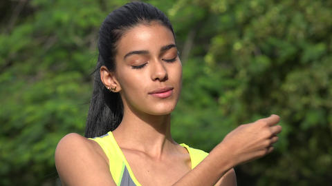 Woman Stretching Or Practicing Yoga Footage