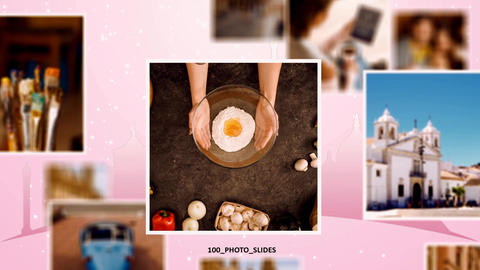 100 photo slides. Simple Slideshow After Effects Template