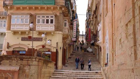 Cityscapes of Valletta - the capital city of Malta - MALTA, MALTA - MARCH 5 Live Action