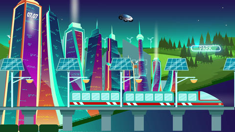 City of the future Animation