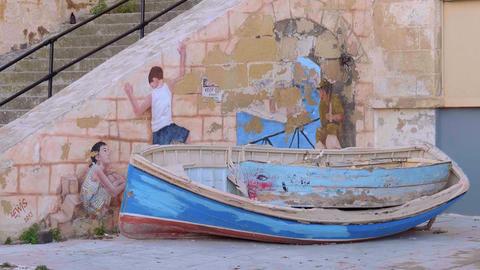 Beautiful historic city of Valletta - MALTA, MALTA - MARCH 5, 2020 Live Action