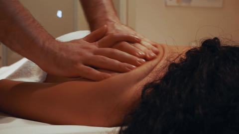 Woman having massage Live Action