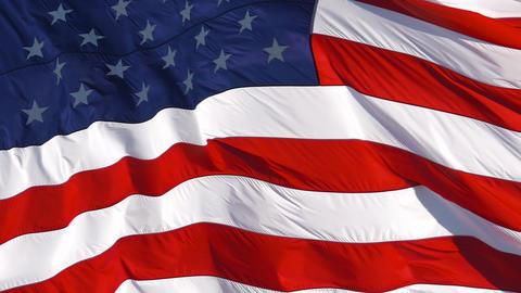 American Flag Waving. Full frame slow motion Live Action
