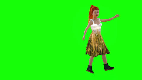 538 4k 3d animated avatar small girl talking and presenting herself Animation