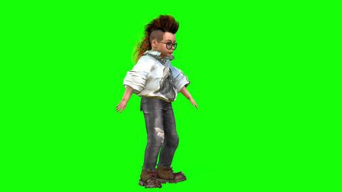 544 4k 3 d animated avatar boy walking and smiling Animation