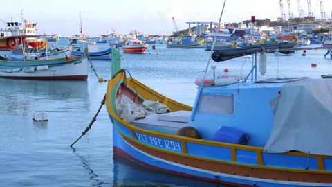 Cityscapes of Marsaxlokk - a small village in Malta - MALTA, MALTA - MARCH 5 Live Action